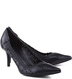 Scarpin Laser Cut Black