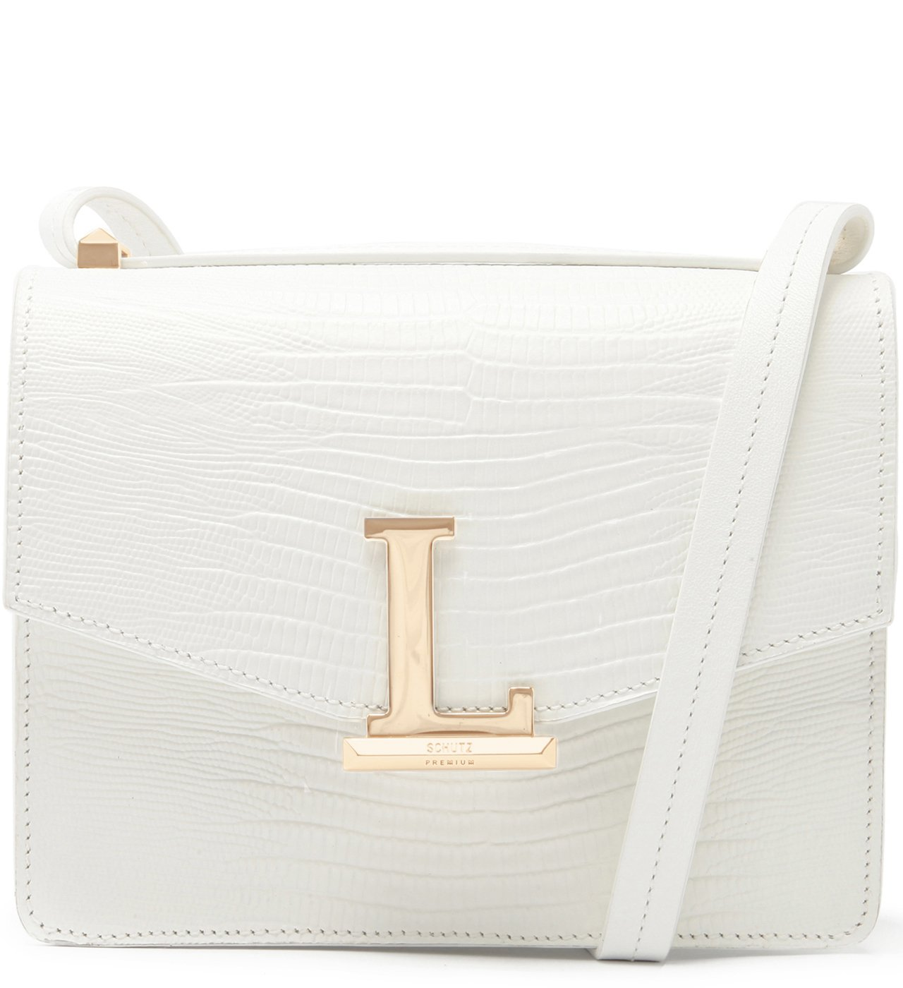Crossbody Square Letters White | Schutz