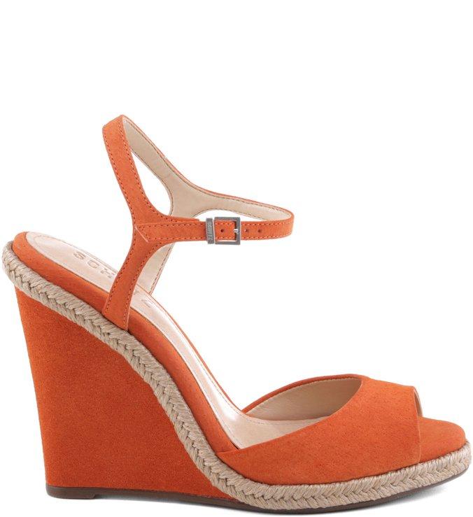 Sandália Wedge 70'S Orange Ochre