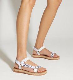 Sandália Papete Flatform White