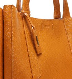 Shopping Bag Archie Snake Ocre