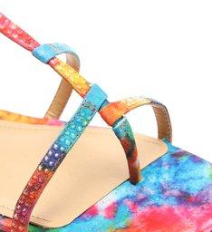 Sandália Rasteira Rainbow Colorida