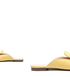 Flat Mule Comfy Suede Yellow