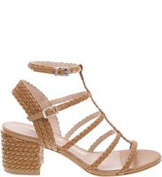 Sandália Block Heel Braid Desert