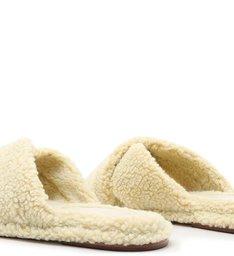 [On Demand] Homewear Flat Slide Lucy Alpaca Areia