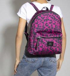 Mochila Neoprene Leopard Pink