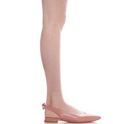 Flat Slingback Bow Back Poppy Rose