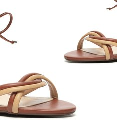 Sandália Block Heel Strings Cream