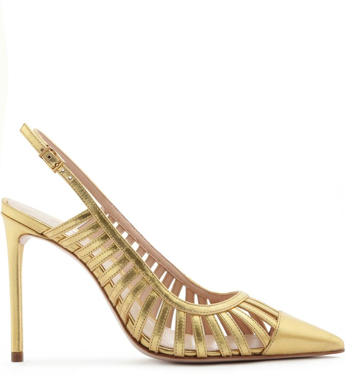 Scarpin Slingback Cut-Out Gold