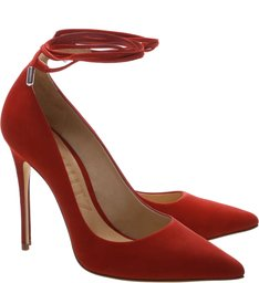 Scarpin Lace Up Tango Red