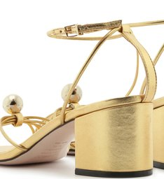 [BACK IN STORE] Sandália Block Heel Pearl Dourada