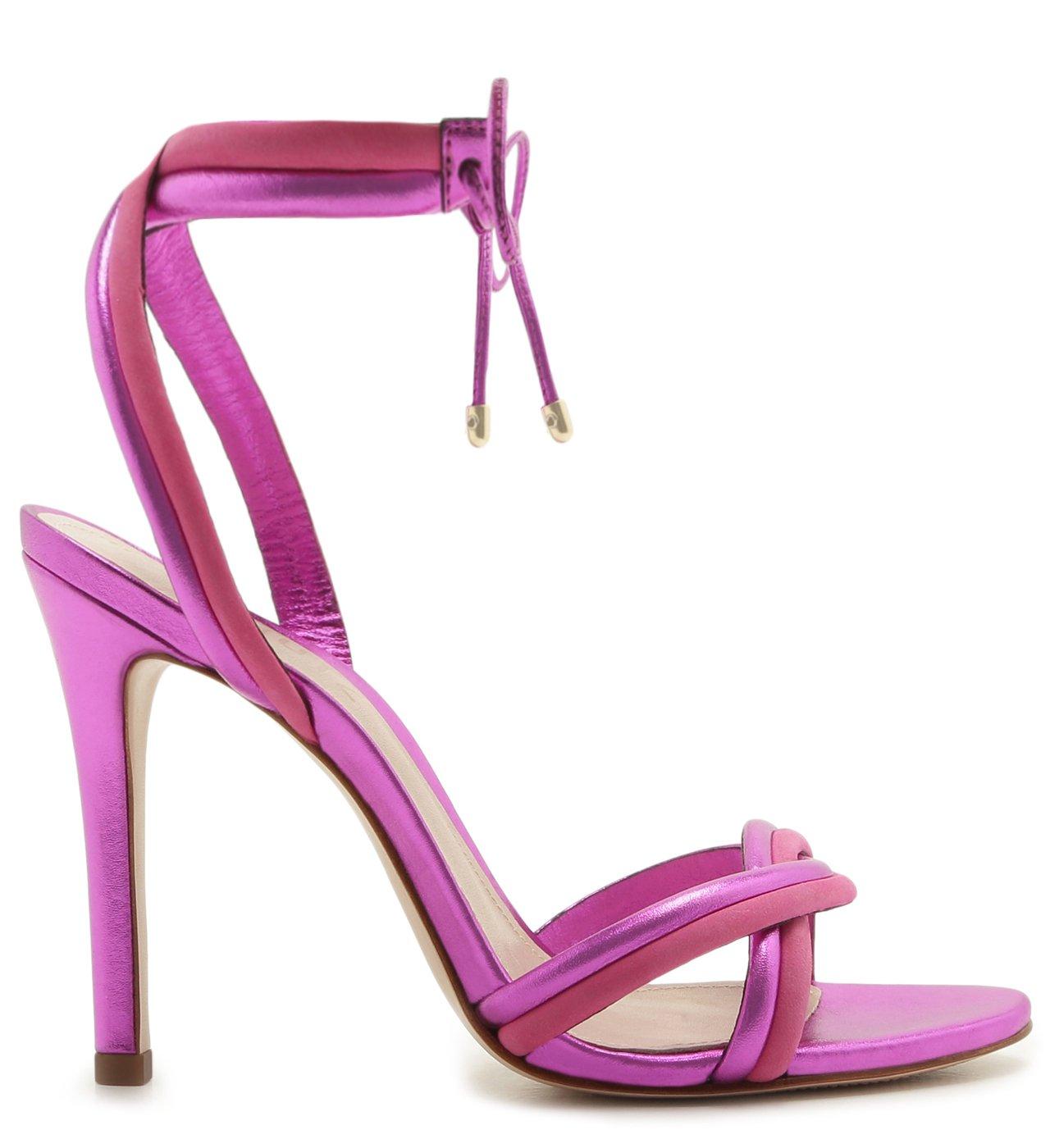 Sandália Delicate Metallic Pink | Schutz