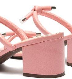 Sandália Mule Block Heel Knots Pink