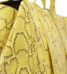 Tote Maxi Snake Neon Yellow
