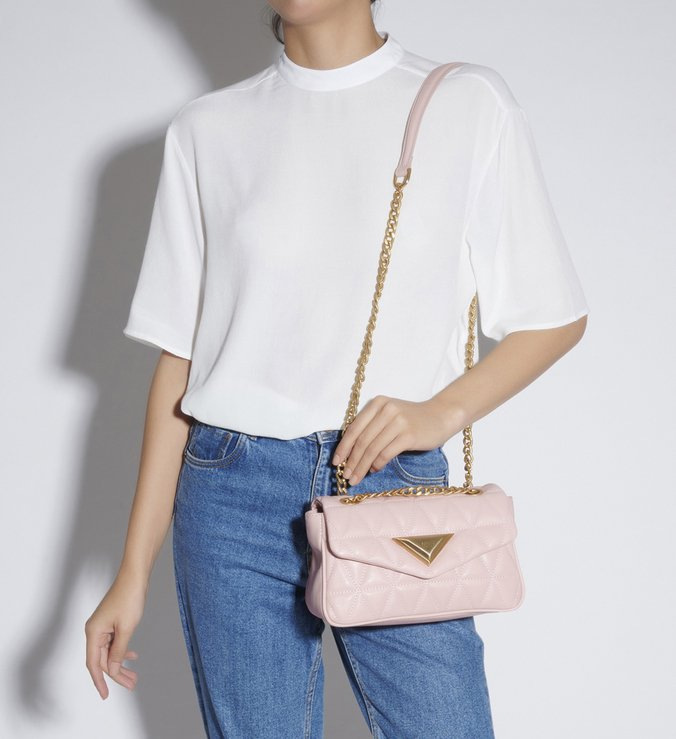 MINI CROSSBODY MATELASSÊ 944 ROSE