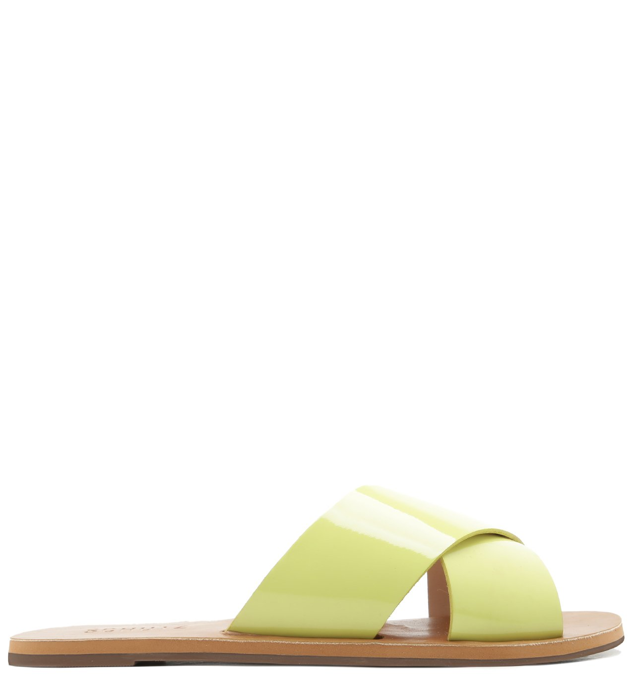 Flat Slide Cross Verniz Lime | Schutz