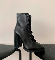 Combat Boots Tratorada Leather Black
