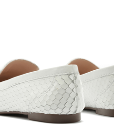 MOCASSIM BRIGHT SNAKE WHITE
