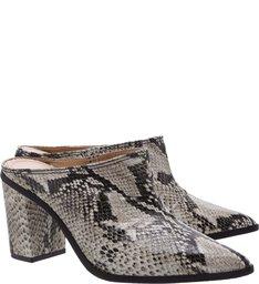 Mule Block Heel Python