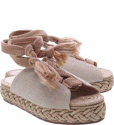 Sandália Flatform Natural