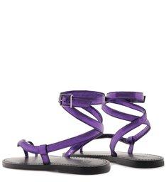 Sandália Rasteira Snake Purple