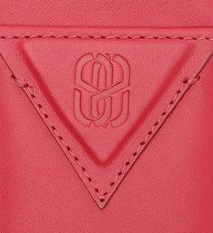Porta-Cartões Emblem Couro Vermelho