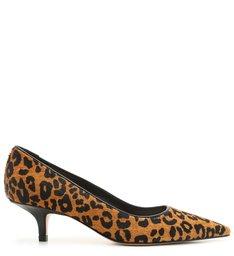 Scarpin Kitten Heel Pelo Animal Print