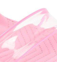 Sandália Salto Alto Ammy Vinil Transparente Rosa