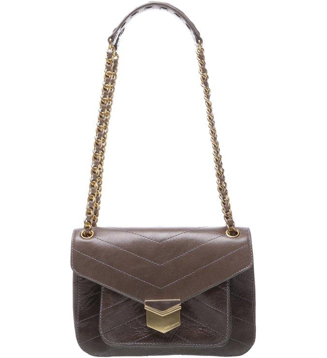 Mini Shoulder Bag Rosie Chain Cinza