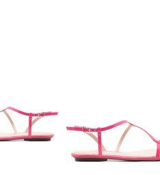 Sandália Rasteira Verniz Pink