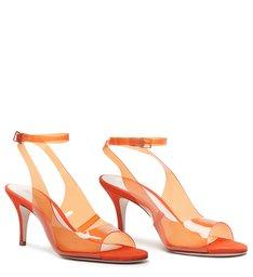 Sandália Vinil Slingback Orange