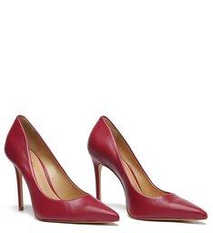 Sapato Scarpin Couro Vermelho Vinho
