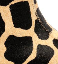 Bota Cano Longo Nobuck Estampa Girafa