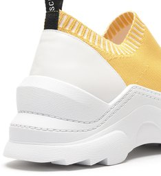 Sneaker Square Knit Yellow