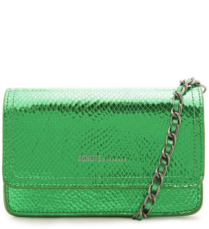 CROSSBODY 4GRLS LORENA SNAKE METALLIC EMERALD