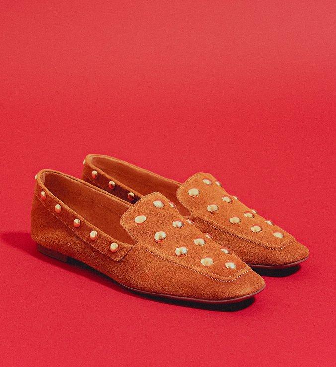 Loafer MaxiStuds Suede Brown