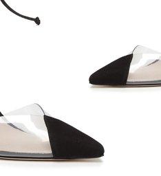 Sapato Scarpin Vinil Preto