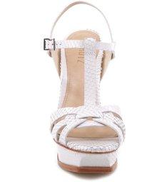 Sandália Intertwined Strips Pearl