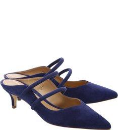 Mule Kitten Heel S-GIRLIE Blue