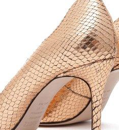 Sapato Scarpin Metalizado Dourado