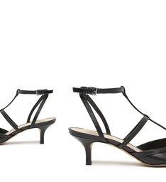 Sapato Scarpin Salto Baixo Tiras Preto