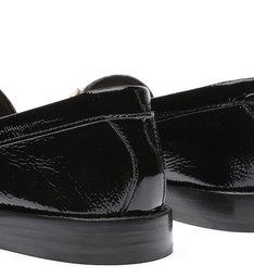 Mocassim Leather Verniz Black