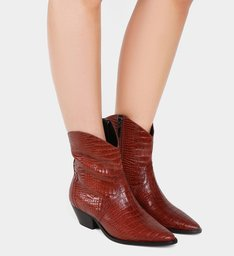Bota Deluxe Croco Red Brown