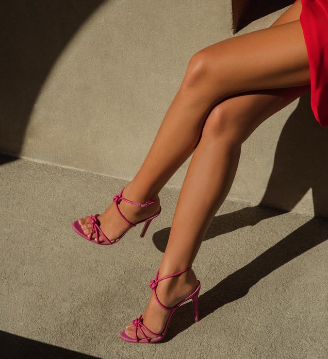 Sandália Salto Strings Knot Pink