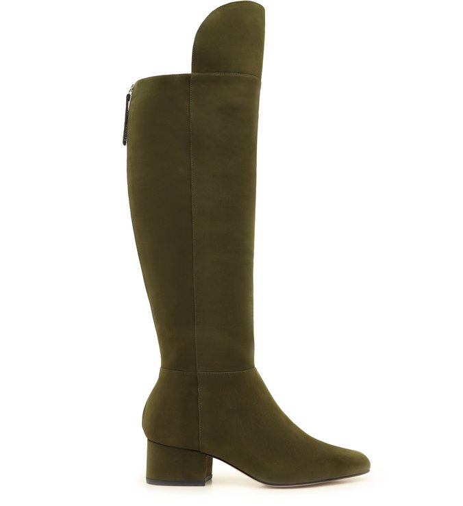 Bota Over The Knee Suede Verde-Militar | Schutz