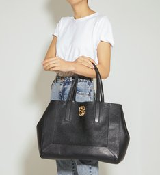 Shopping Bag Double Face Bright Snake Black