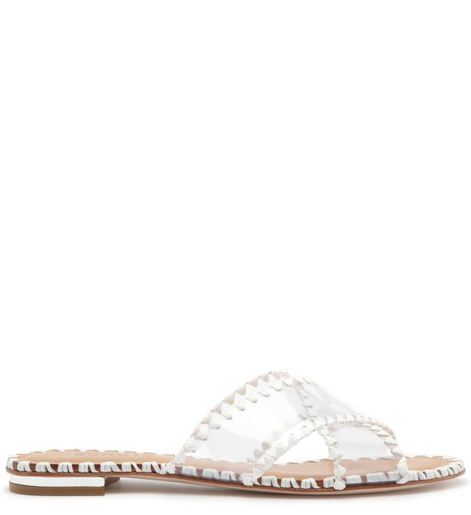 Slide Vinil Crystal Glam White | Schutz