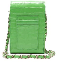 Bolsa Tiracolo Pequena 4Girls Believe Croco Verde