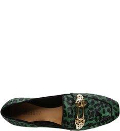 Mocassim Glam Wild Leopard Green
