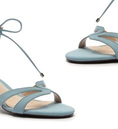 Sandália Block Heel Minimal Pop Blue